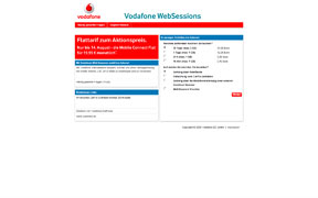 Vodafone WebSessions